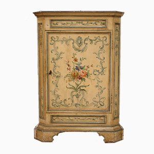 Italian Lacquered and Painted Corner Cabinet