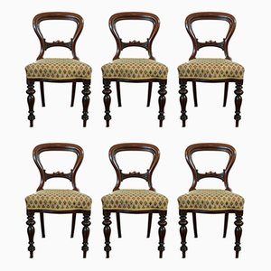 English & Walnut Dining Chairs, Set of 6