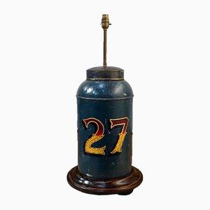 Large Antique Tea Tin Table Lamp