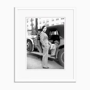 Marlene Dietrich Fashion Shoot Archival Pigment Print Framed in White by Everett Collection