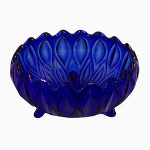 Vintage Blue Glass Bowl from Fyns Glasværk