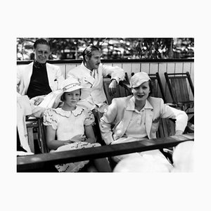 Marlene Dietrich & Friends at Charity Polo Event Archival Pigment Print Framed in Black by Everett Collection