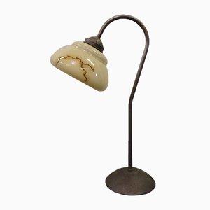 Art Deco Tischlampe aus patiniertem Metall