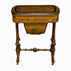 Victorian Walnut Game/Sewing Table
