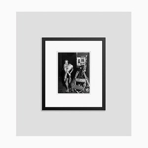 Marlene Dietrich On Set Archival Pigment Print Framed in Black by Everett Collection