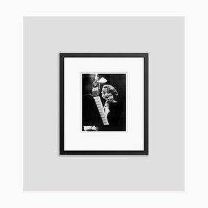 Marlene Dietrich In the Recording Studio Archival Pigment Print Framed in Black by Everett Collection