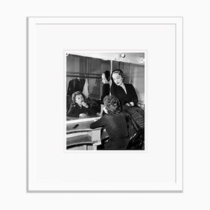 Edith Piaf & Marlene Dietrich Archival Pigment Print Framed in White by Everett Collection