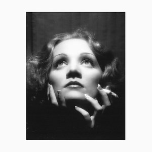 Marlene Dietrich Archival Pigment Print Framed in Black from Galerie Prints