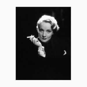 Marlene Dietrich Archival Pigment Print Framed in White from Galerie Prints
