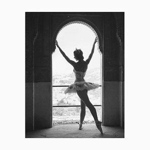 Margot Fonteyn Silver Gelatin Resin Print Framed in White by Baron