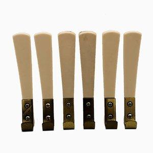 Bakelite & Brass Racks, 1950s, Set of 6