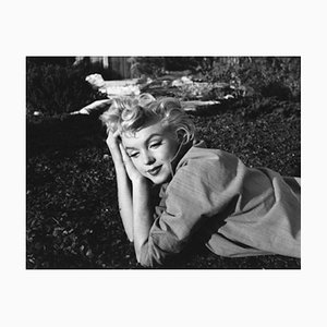 A Wistful Marilyn Monroe Silver Gelatin Resin Print Framed in Black by Baron