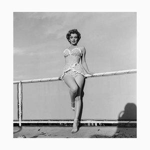 Beach Belle Silver Gelatin Resin Print Framed in Black by Hulton Archive