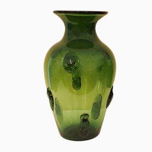 Green Lava Vase from Vetreria Etrusca, 1940s