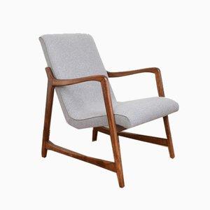 Mid-Century Polish Lounge Chair by B. Fenrych-Węcławska, 1960s