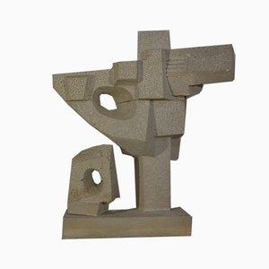 Skulptur aus Stein von Karl Jean Longuet, 1960er