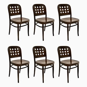 Bentwood Dining Chairs by Josef Hoffmann, 1990s, Set of 12