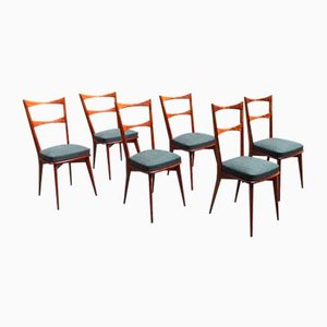 Mid-Century Dining Chairs in the style of Paolo Buffa, Set of 6