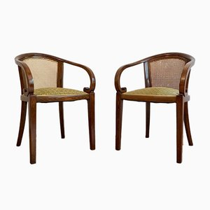 Vintage Armchairs by Josef Hoffmann for Gebrüder Thonet Vienna GmbH, Set of 2