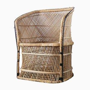 Mid-Century Rattan Armchair