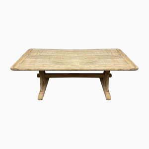 French Bleached Oak Farmhouse Dining Table