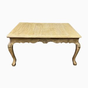Antique French Extending Bleached Oak Farmhouse Dining Table