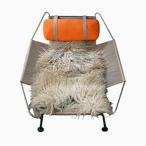 Mid-Century Flag Halyard Lounge Chair by Hans Wegner for PP Mobler