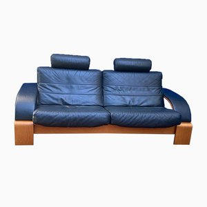 Vintage Leather Sofa by Nelo Sweden for Roche Bobois