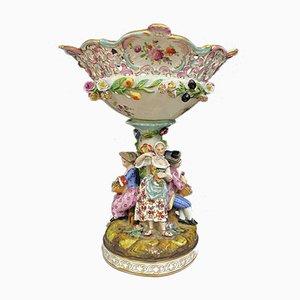 Antique German Porcelain High Center Bowl