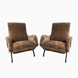 Italienische Sessel von Marco Zanuso, 1950er, 2er Set