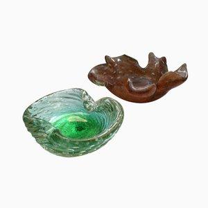 Scodelle vintage in vetro di Murano, anni '60, set di 2