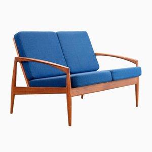 Two-Seater Paperknife Sofa by Kai Kristiansen for Magnus Olesen, 1950s