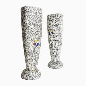 Westdeutsche Mid-Century Vasen von Jopeko Keramik, 2er Set