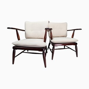 Mid-Century Austrian Walnut Armchairs by Anna-Lülja Praun, 1950s, Set of 2