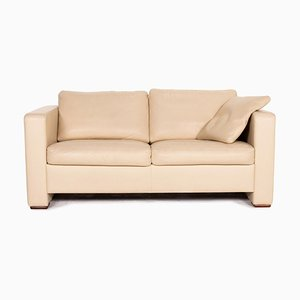 Beige Leather Two-Seater Sofa from Machalke