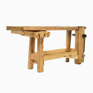 Vintage Oak Workbench, 1920s