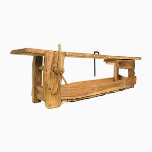 Large Vintage Oak Workbench, 1920s