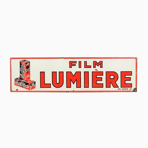 Vintage Enamel Film Lumière Advertising Sign