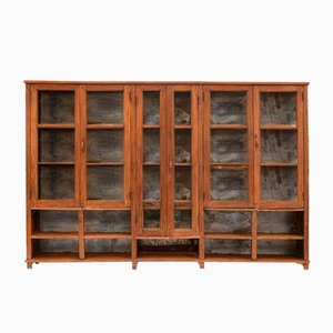 Vintage Wood & Metal Display Cabinet, 1940s