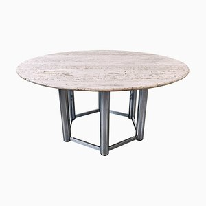 Grande Table de Salle à Manger en Travertin