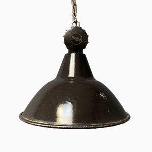 Black Enamel Pendant Lamp from Fera, 1930s