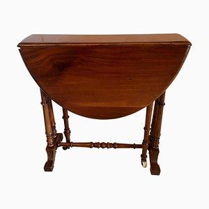 Kleiner antiker viktorianischer Sutherland Tisch aus Nussholz