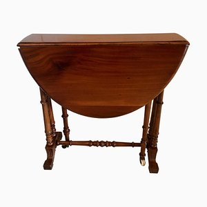Small Antique Victorian Walnut Drop-Leaf Sutherland Table
