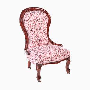 Antique Victorian Mahogany Ladies Chair