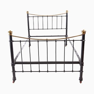 Antique Victorian Brass & Iron Bed