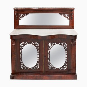 Antique Victorian Rosewood Chest of Drawers with Marble-Top