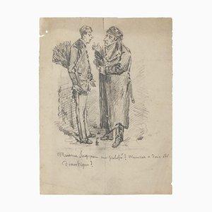 Figuren - Original Zeichnung - 20th Century 20th Century