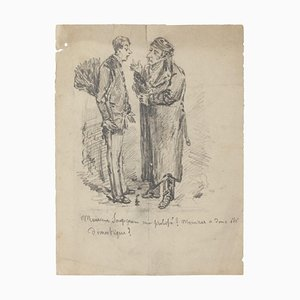 Figures - Original Drawing - 20th Century 20th Century