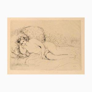 Femme Nue Couchée (Tourné à gauche)- Etching and Drypoint by P.A. Renoir - 1906 1906