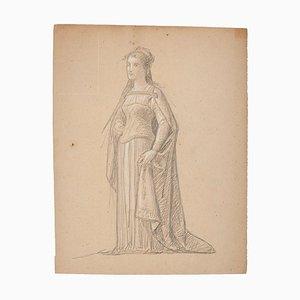 Theatrical Costume - Original Drawing - 19th Century 19th Century